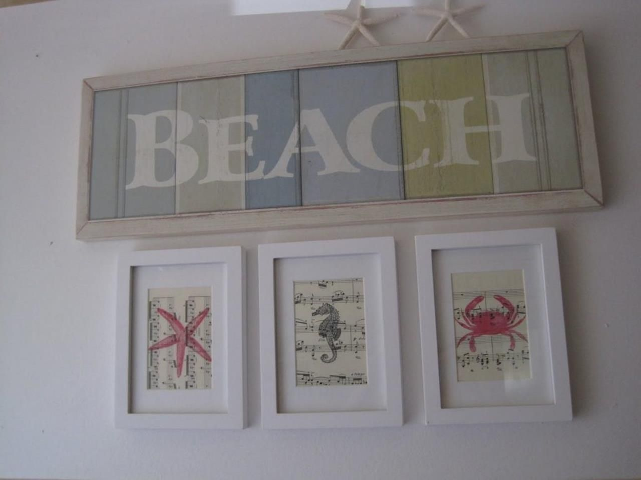 DIY Gorgeous Beach Themed Wall Decorating Ideas 2 | Beach themed wall art, Beach theme wall ...