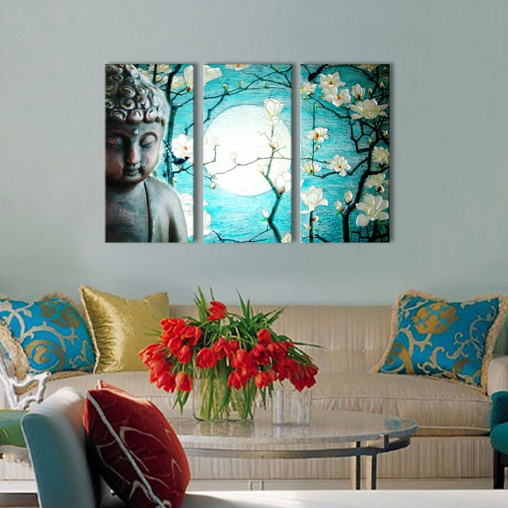buddhist love calmness buddha painting designs 12 x24