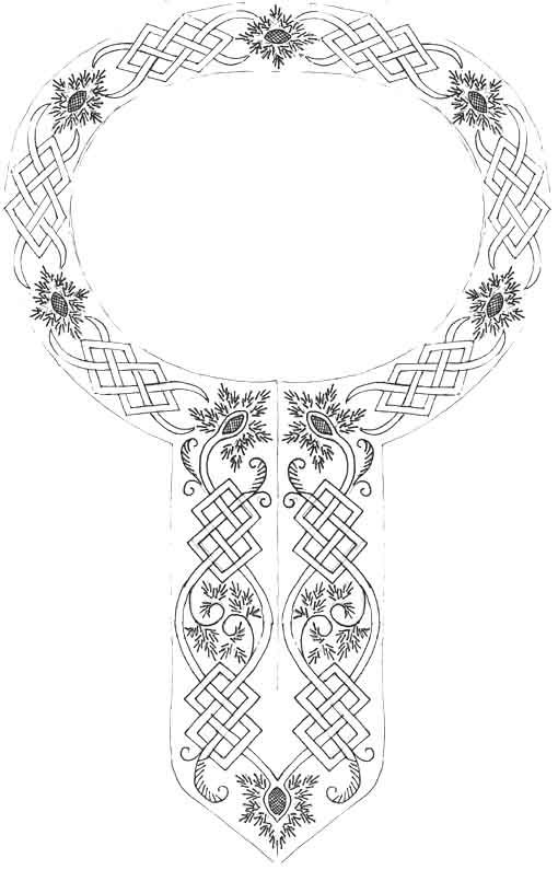 12th century embroidery pattern for celtic / Viking remove the ...