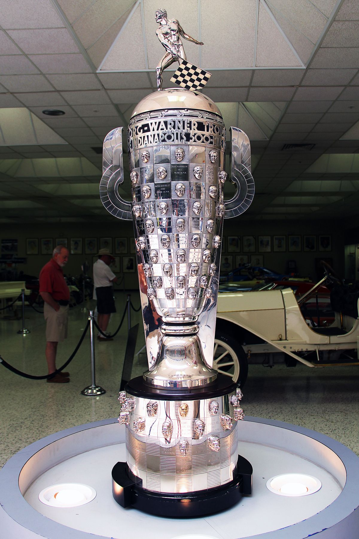Borg Warner Trophy To Get Your Likeness Added To This Trophy All You Have To Do Is Lead One Lap At The End Of The In Indy Cars