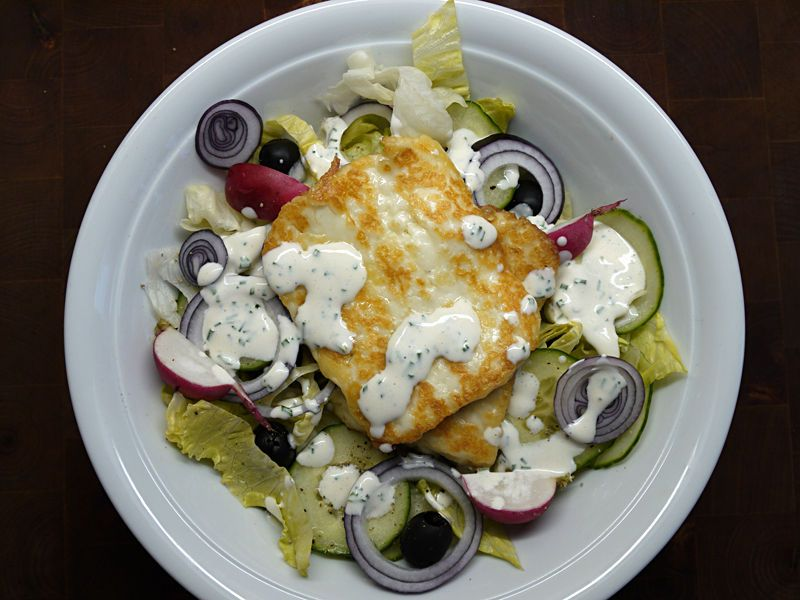 Grilled Haloumi salad (Halloumi is Cypriotic cheese)