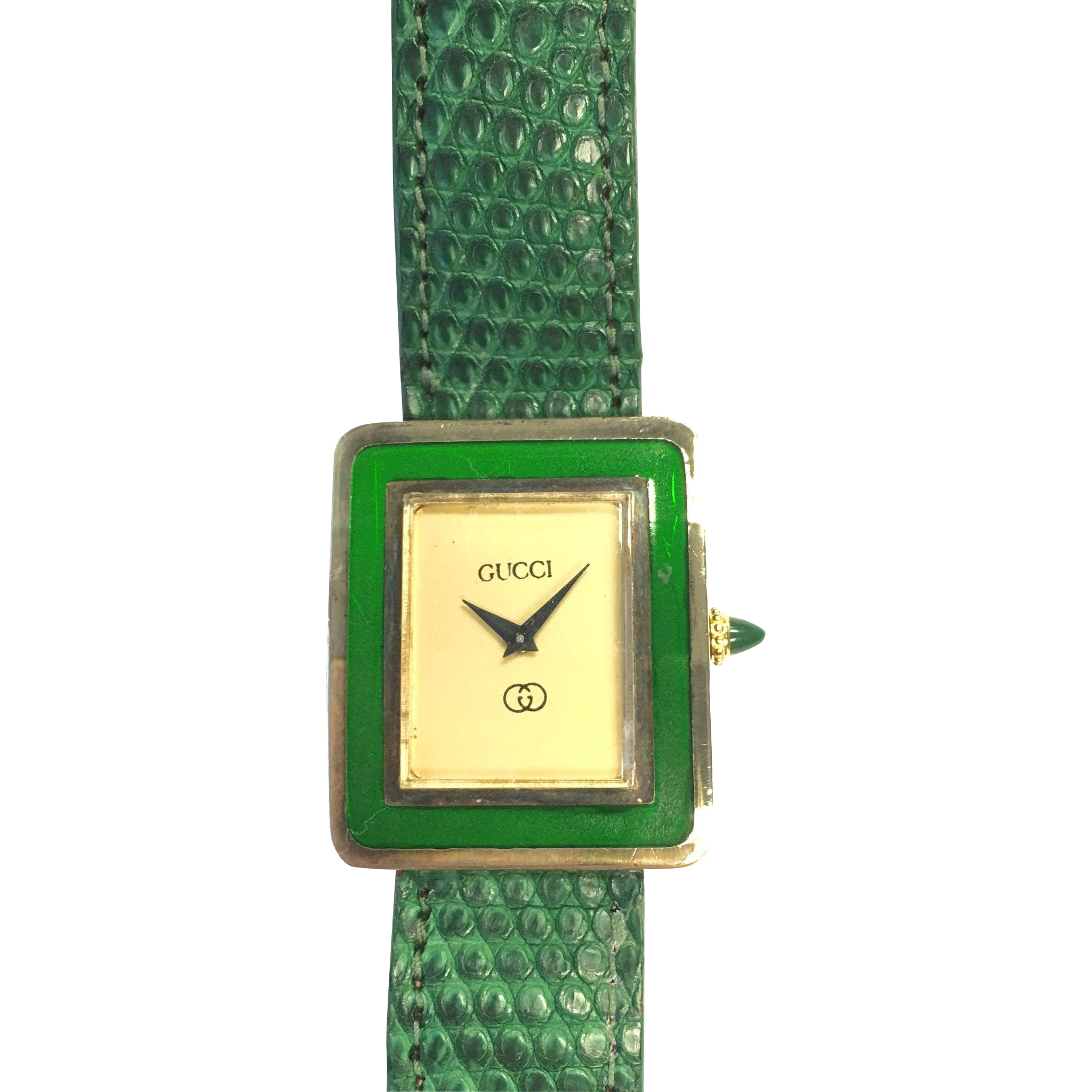 rare vintage classic gucci green enamel vermeil manual wind watch rh pinterest com I-Gucci Digital I Fake Gucci