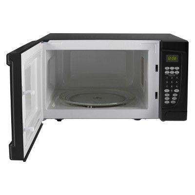 Oster 1 6 Cu Ft 1100w Microwave Black Ogcmr416bk 11 Black Microwave Microwave Countertop Microwave Oven