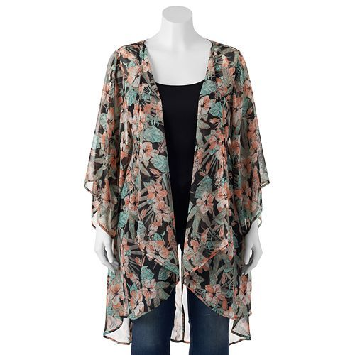 bc9db1abf943e9 Mudd® Chiffon Kimono Cardigan. Love these kimono options over your pencil  skirt.