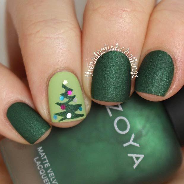 31 Christmas Nail Art Design Ideas   Arte de uñas, Navidad y Uñas ...