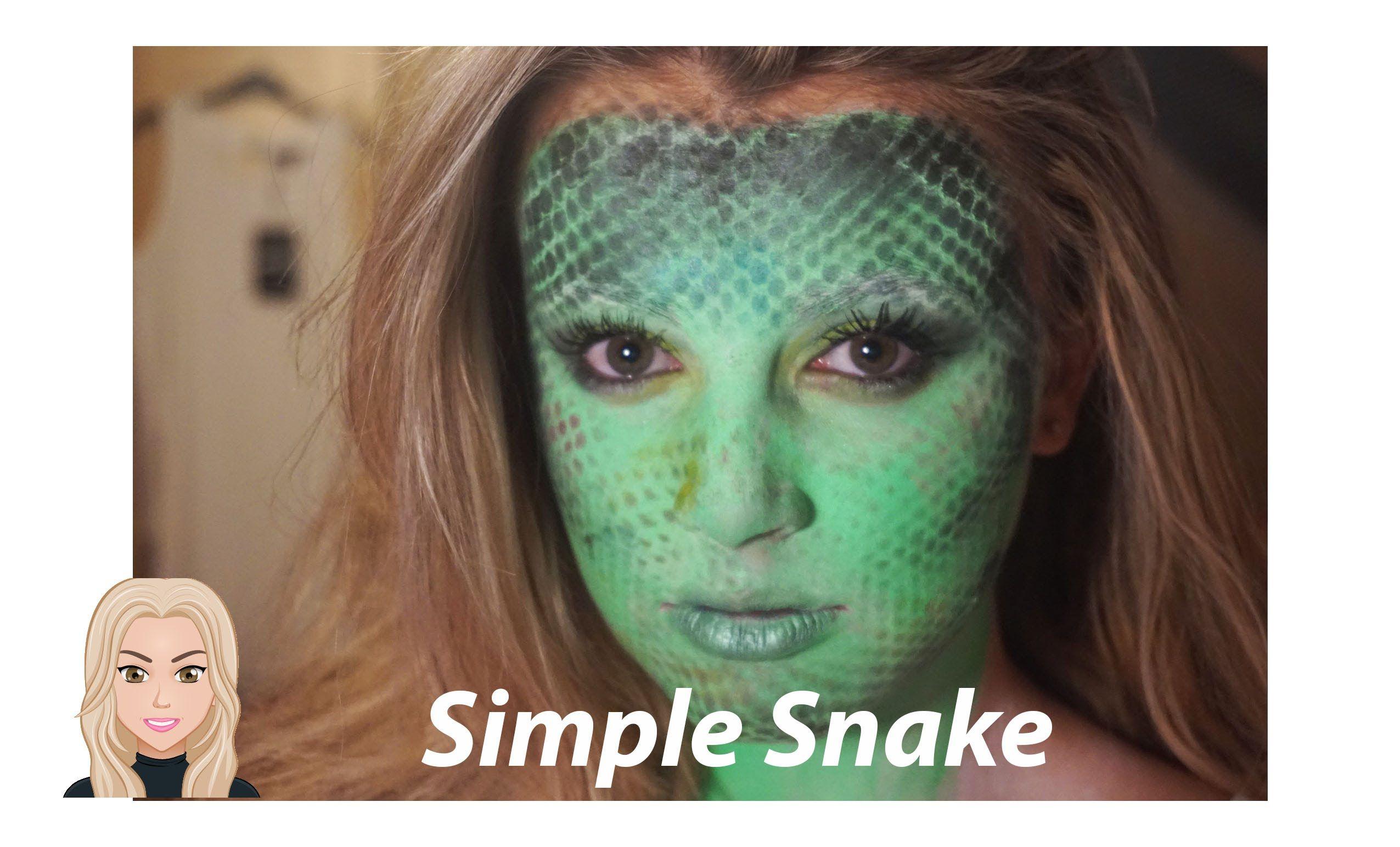 Super Easy Snake Makeup Tutorial