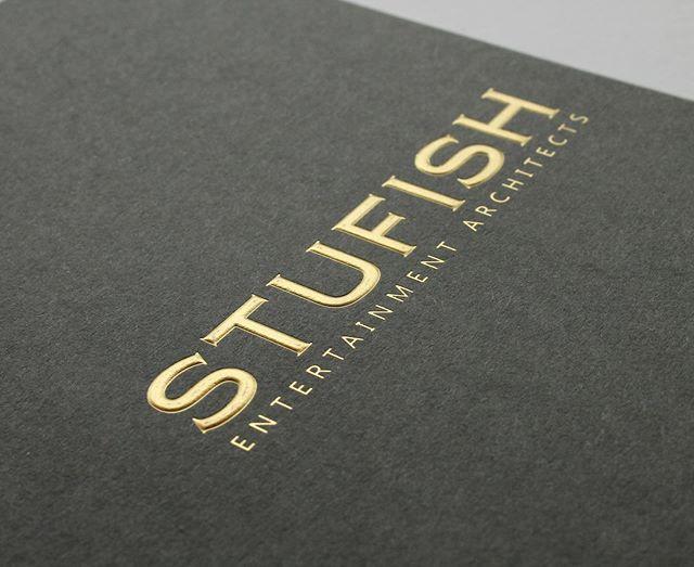 Gold Foil Emboss Cover Of Stufish Brand Book Embossed Logo Fashion Branding D Lettering
