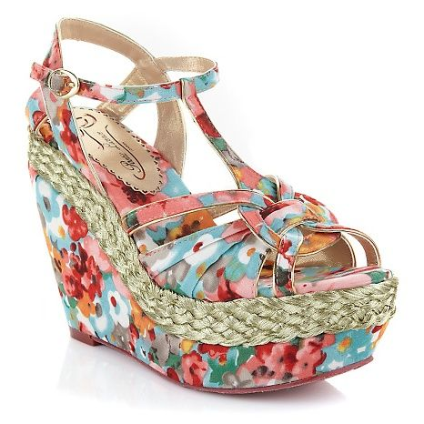 "Poetic Licence ""Arm Candy"" Floral Wedge - currentlysoldoutHSN"