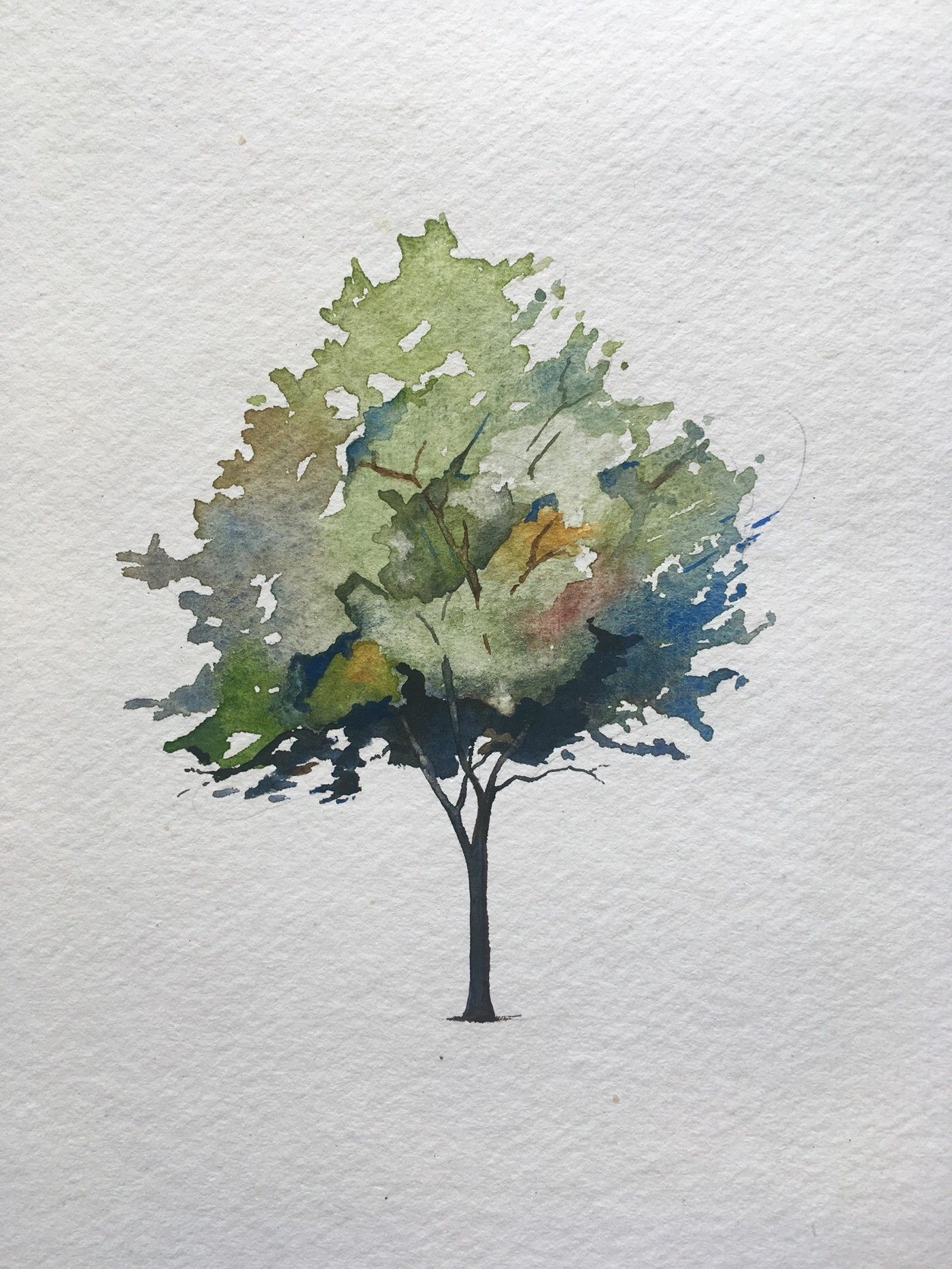 How To Paint A Tree In Watercolors - The Startup - Medium