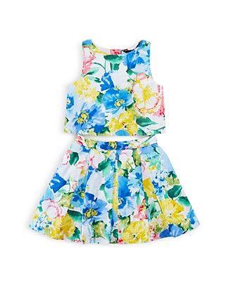 9999c1fc1 Ralph Lauren Girls  Floral Print Top   Skirt Set - Sizes 2-6X ...