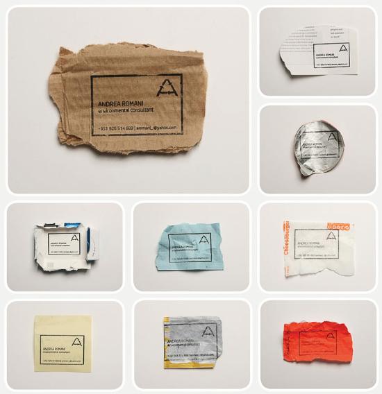 Recycling Visitenkarte 1 Identity Pinterest Corporate