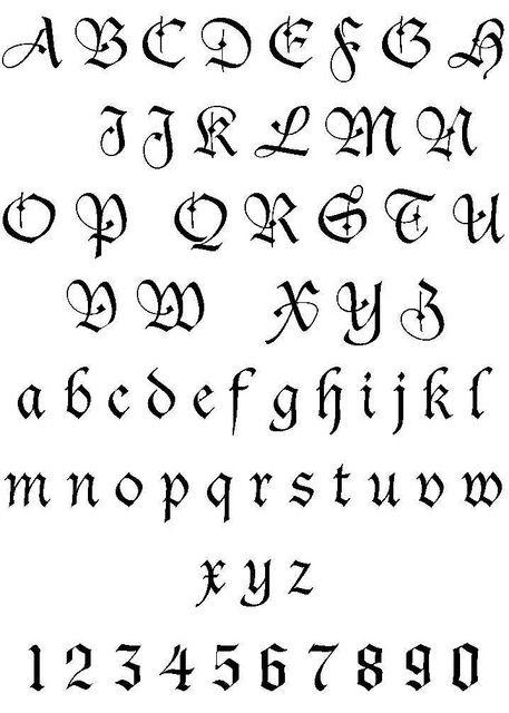 Letter Tattoo Font