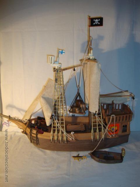 Famobil no playmobil 1 epoca original 1974 primer barco for Barco pirata playmobil
