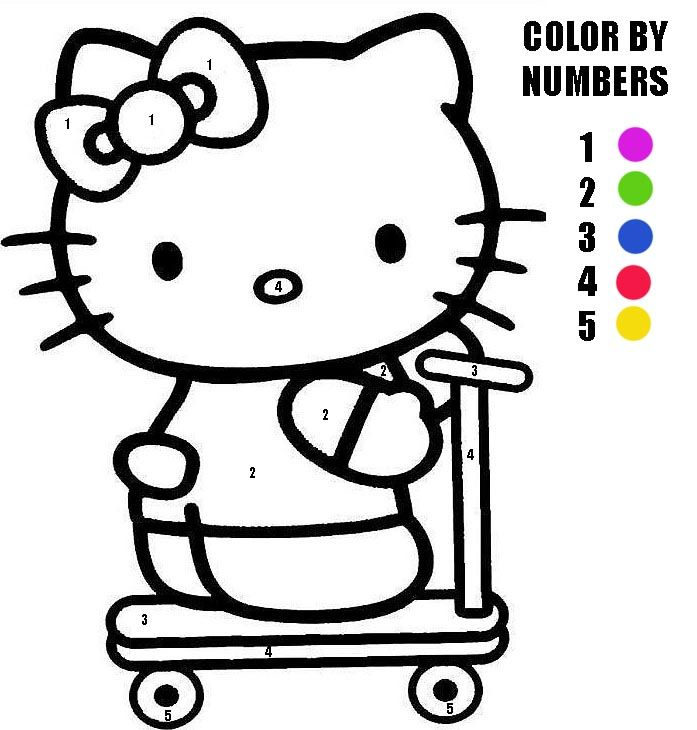 Here Is A Hello Kitty Color By Numbers Activity Sheet That We Hope You Will Enjoy I Hop Hello Kitty Coloring Hello Kitty Colouring Pages Kitty Coloring