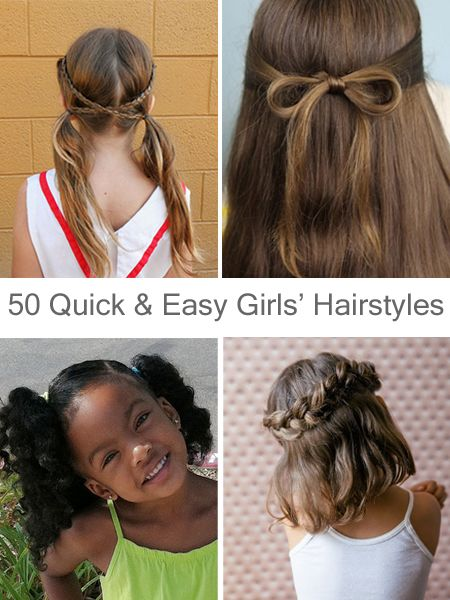 Quick Hairstyles Alluring 50 Quick And Easy Girls' Hairstyles  Girl Style  Pinterest  Easy