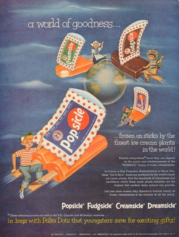 Details about 1950s vintage POPSICLE Ice Cream WORLD ...