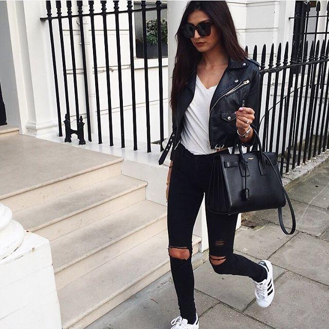 Basic #leatherjacketoutfit