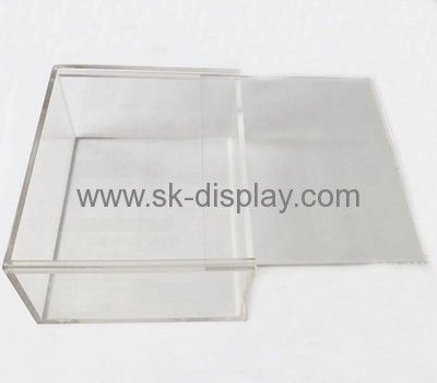 Perspex Manufacturers Custom Acrylic Storage Containers Box With Sliding  Lid DBS 214
