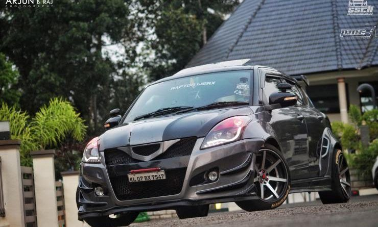 Take A Look At The Most Insanely Modified Maruti Swift In India