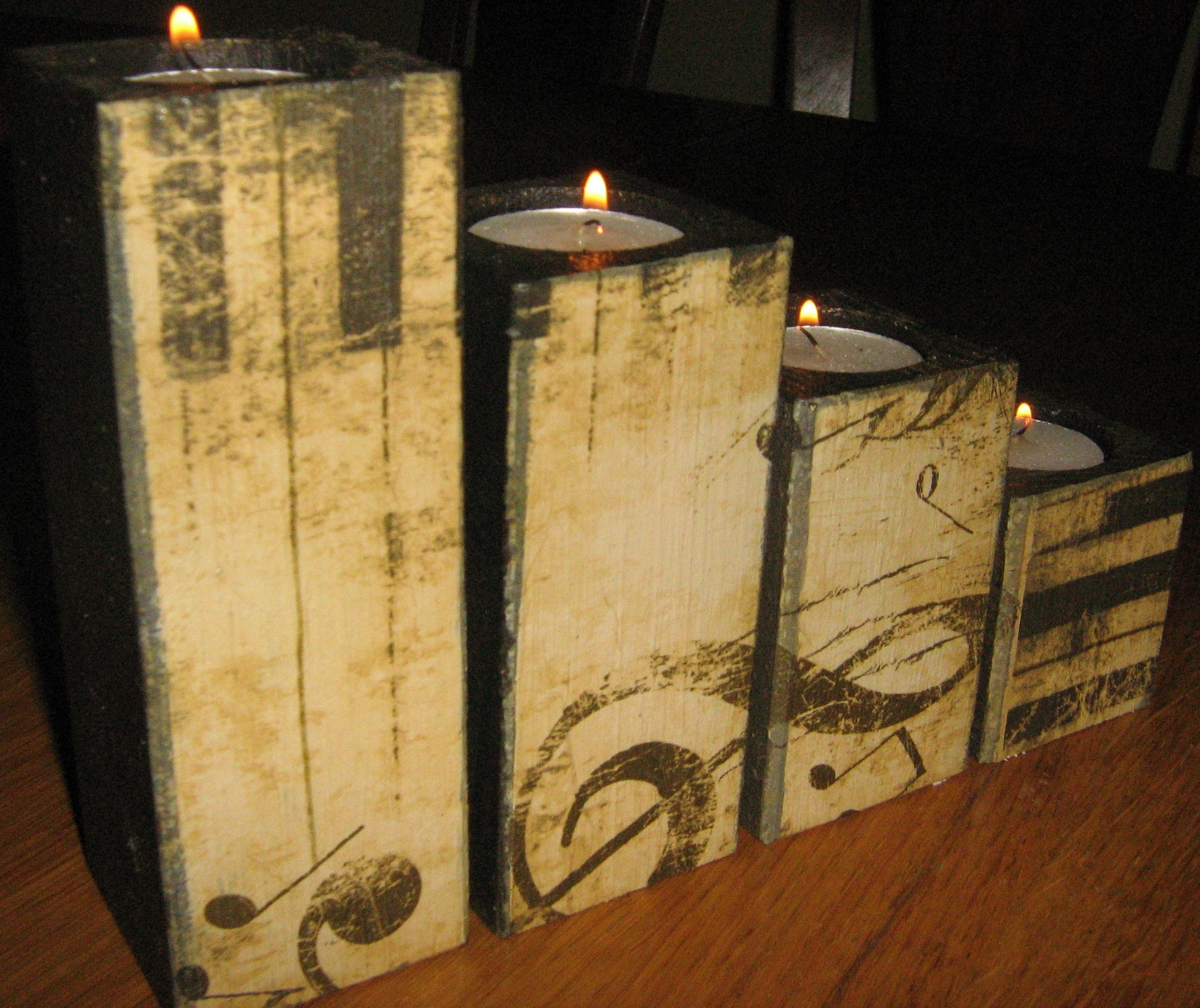 Decoupage Candle Holder Wooden Candle Holders Decoupage Candle Holder Wood Candle Holders