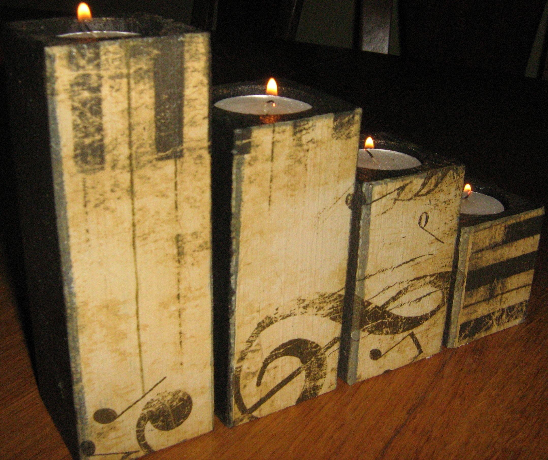 Decoupage Candle Holder Diy Stuff Wooden