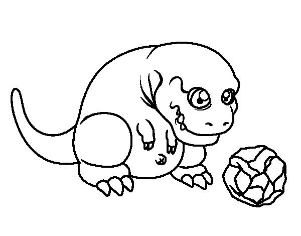 Dibujo De Tyrannosaurus Rex Jugando Para Colorear