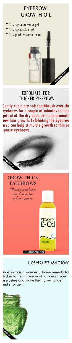 10 Best Home Remedies For Faster Eyebrow Growth Makeup Fantasies