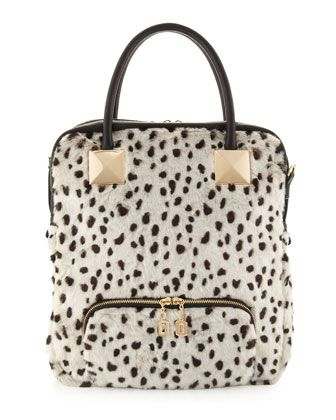 371781878c Bag · Snow Leopard Faux-Fur Tote Bag