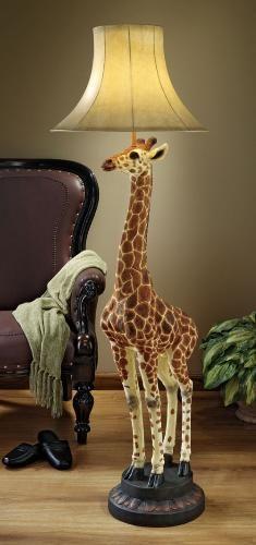 Heads Above Giraffe Floor Lamp Sculpture Giraffe Lamp