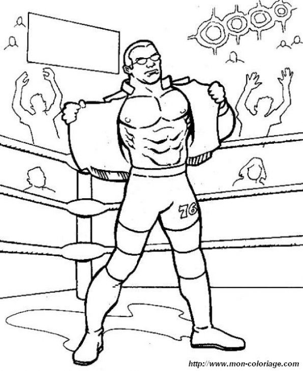 Free Coloring Page Of WWE Wrestling Online Printable