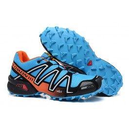 Neue Ankunft Salomon speedcross 3 Männer Schuhe Blau Orange