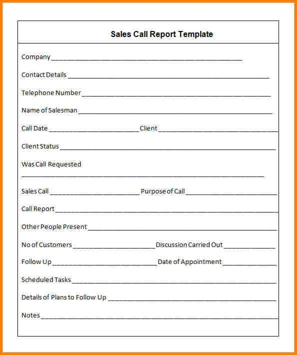 Sales Call Report Template Software Inventory How To Prepare A