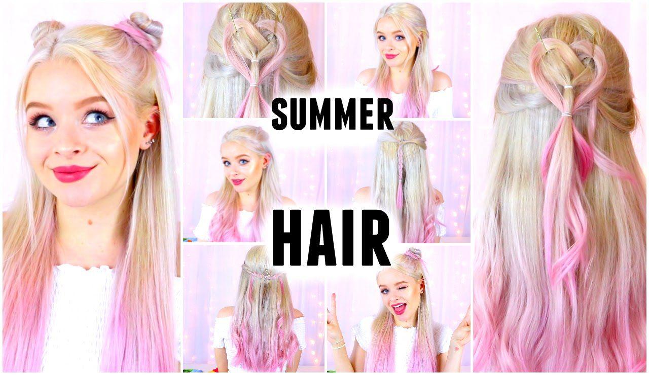 Cute summer hairstyles sophdoesnails hair pinterest