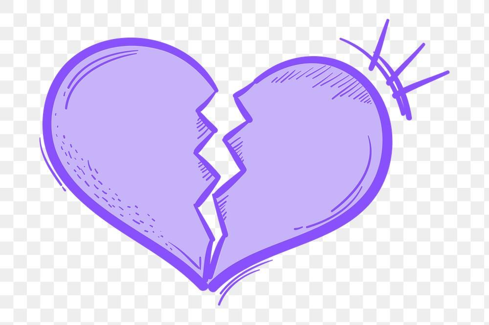Png Pastel Broken Heart Doodle Social Media Story Sticker Free Image By Rawpixel Com Neung