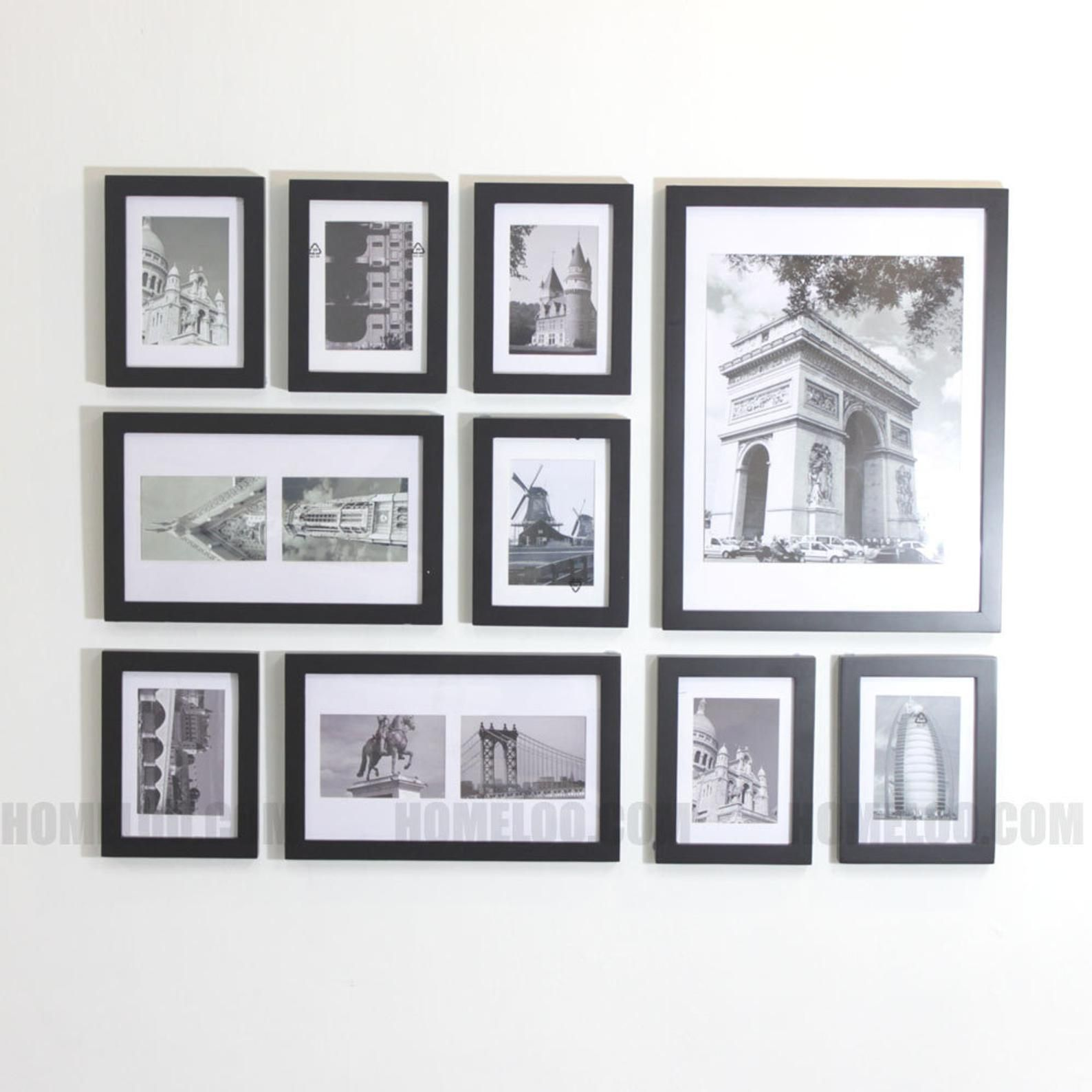 Photo Picture Frame Set Modern 10 Etsy Frame Wall Collage Picture Collage Wall Frames On Wall