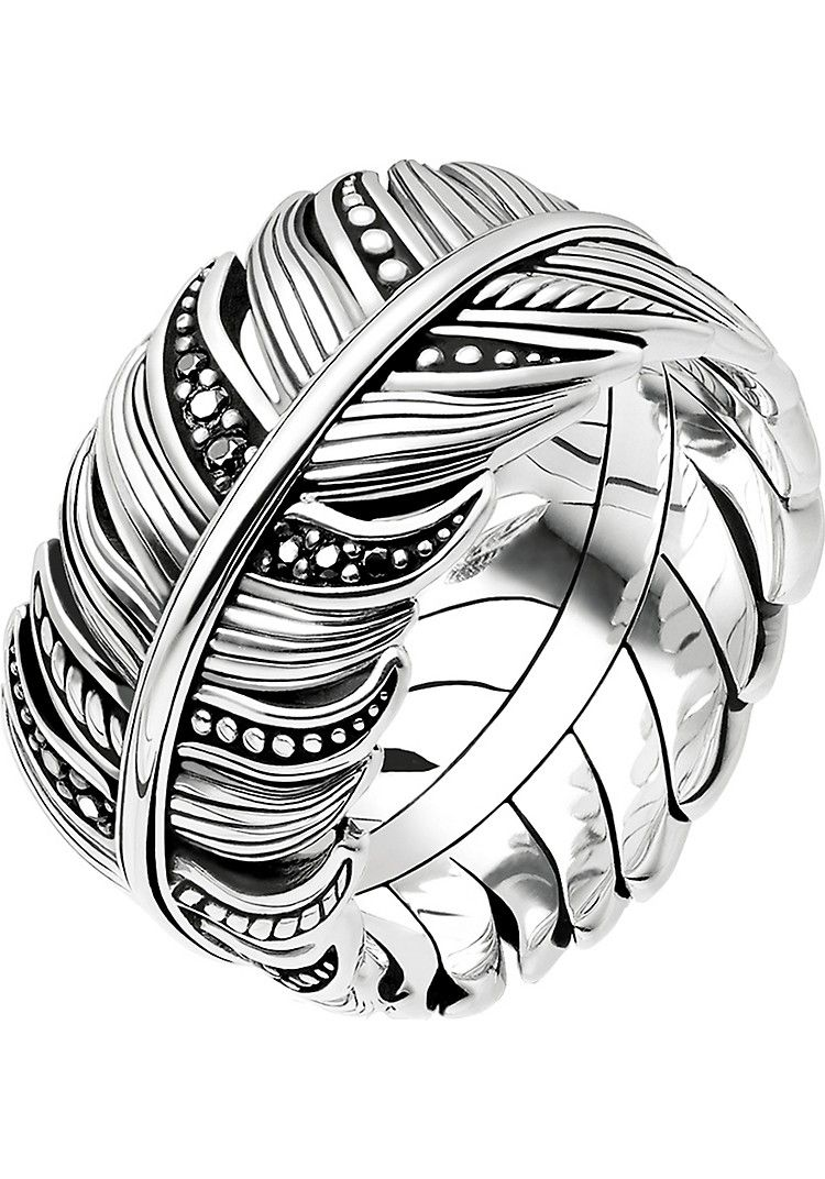 Photo of THOMAS SABO Rebel at heart feather sterling silver ring