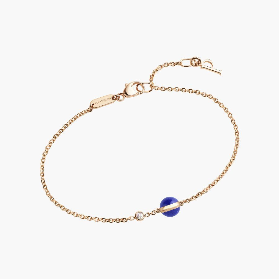 Rose gold lapis lazuli diamond bracelet gpb piaget luxury