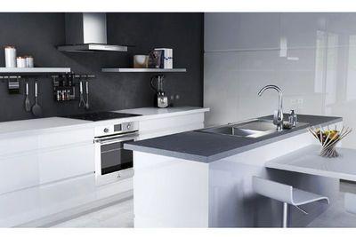 cuisine avec lot central des modles de cuisines avec lot tendance - Cuisine Blanc Mur Gris