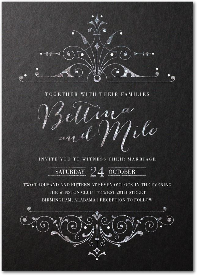 lavishly illuminated signature custom wedding invitations in