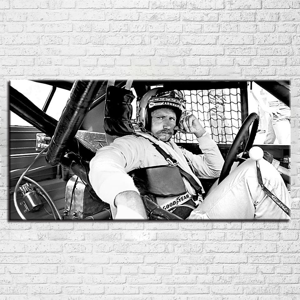 Dale Earnhardt Sr Nascar Racing Black White Wall Art Canvas Print Poster Framed Unframed White Wall Art Black And White Wall Art Poster Prints