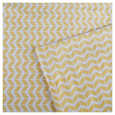 Chevron Microfiber Sheet Set Yellow Queen Chevron Sheets Yellow Bedding Intelligent Design