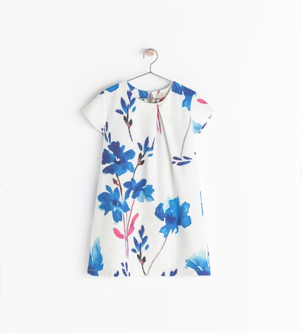 VESTIDO ESTAMPADO FLORES de Zara | ROPA KIDS | Pinterest | Vestido ...