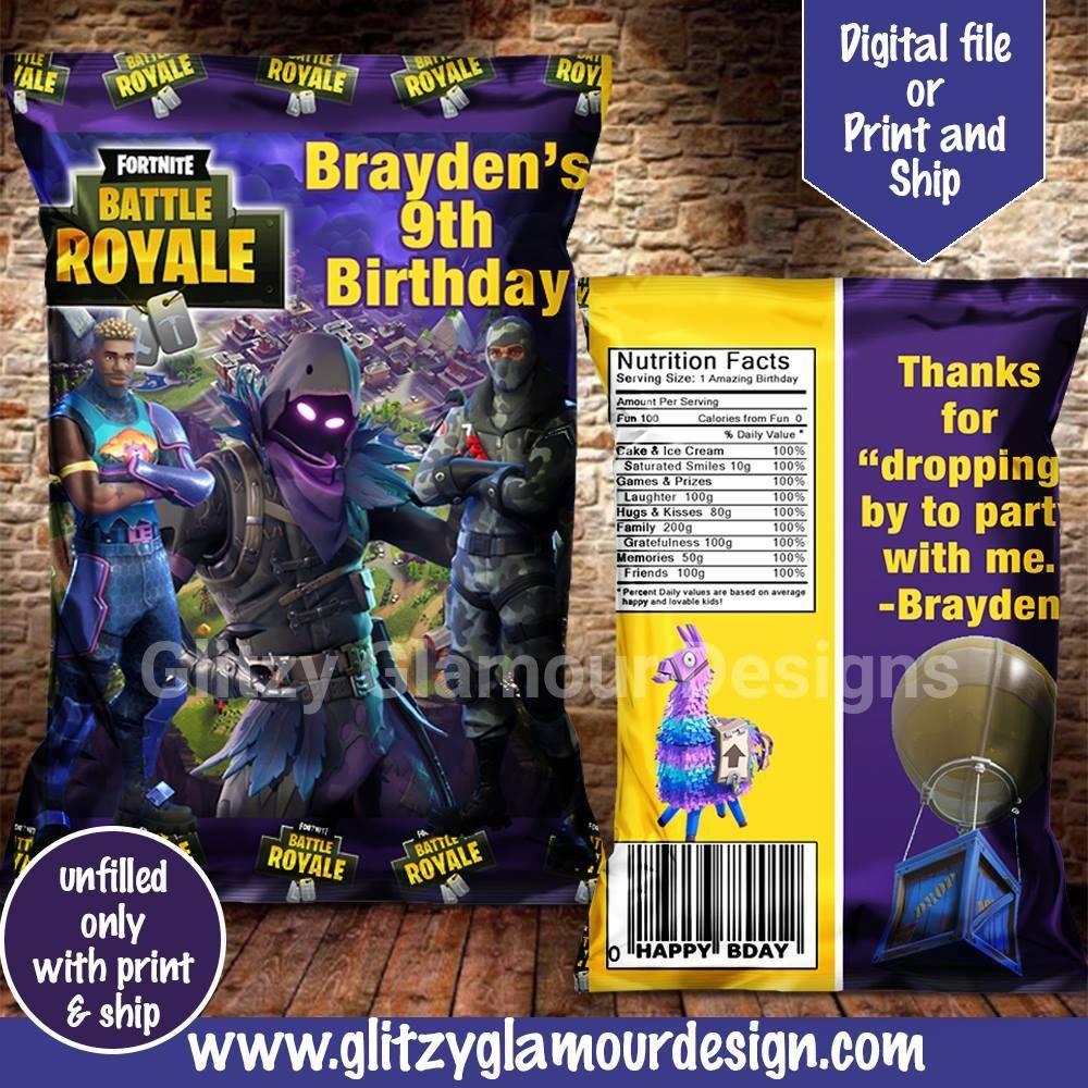 fortnite chip bag brochure paper color calibration chip bags tape crafts - fortnite brochure