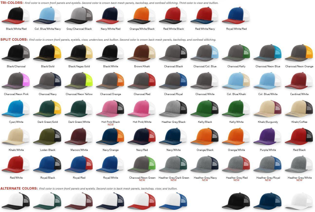 90f03479e 112 Twill Trucker Mesh Snapback Adjustable Hat by Richardson Caps ...