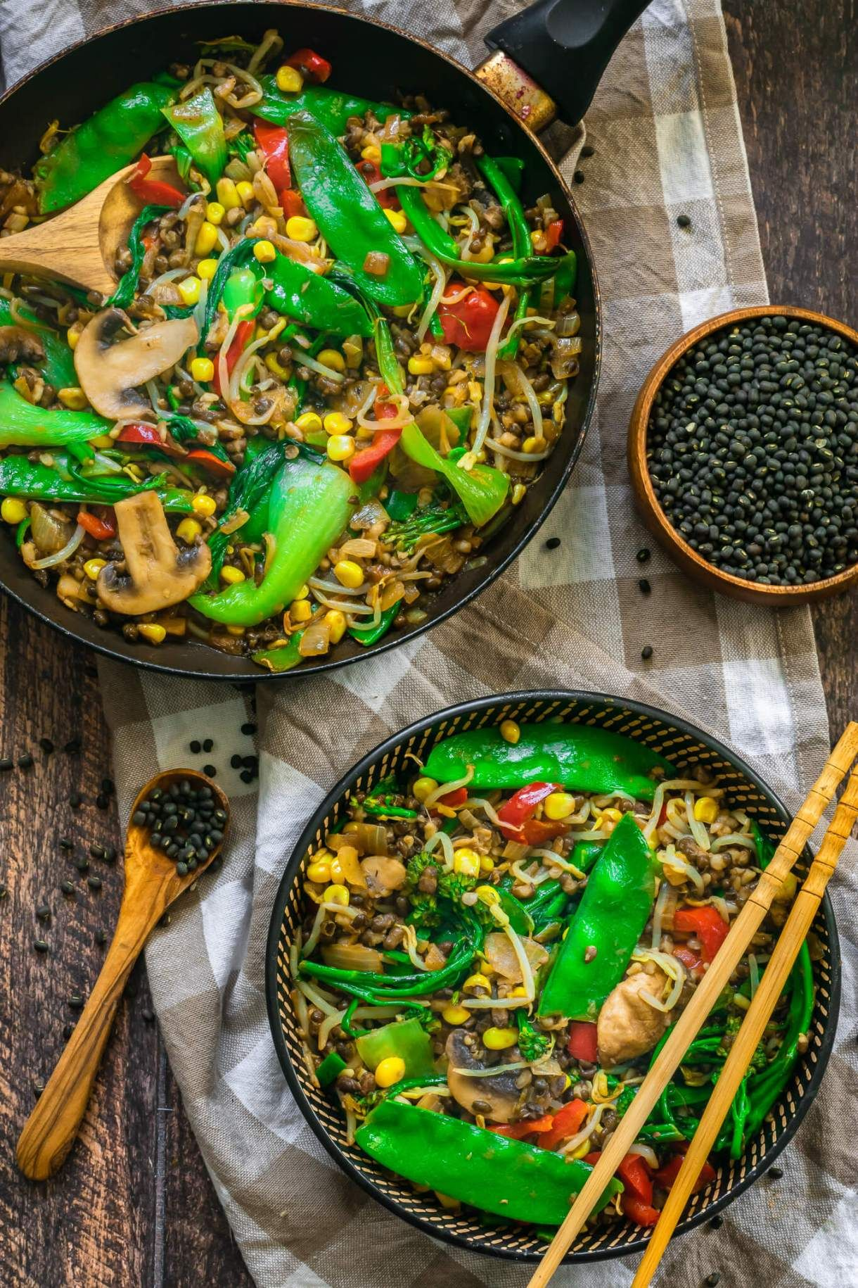 Easy Vegan Stir Fry With Mung Beans