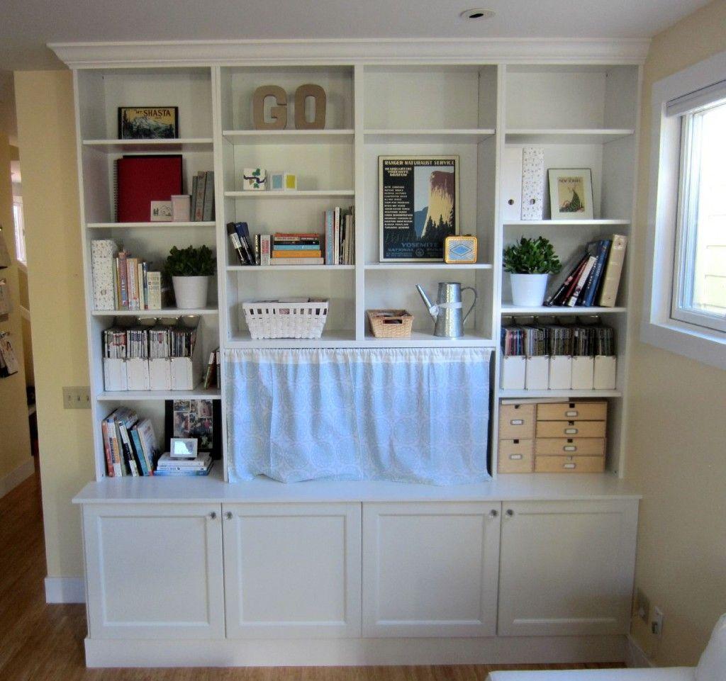 Furniture IKEA Hack 2 Besta Built In Family Room TV Bookshelf ...