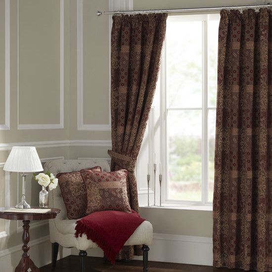 Claret Mayfair Curtain Collection Dunelm Decor