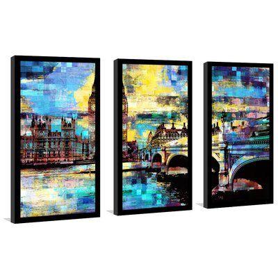 "Latitude Run 'Big Ben IV' Framed Graphic Art Print Multi-Piece Image on Glass Size: 33.5"" H x 52.5"" W"