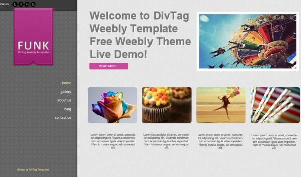 free weebly template theme for download design pinterest