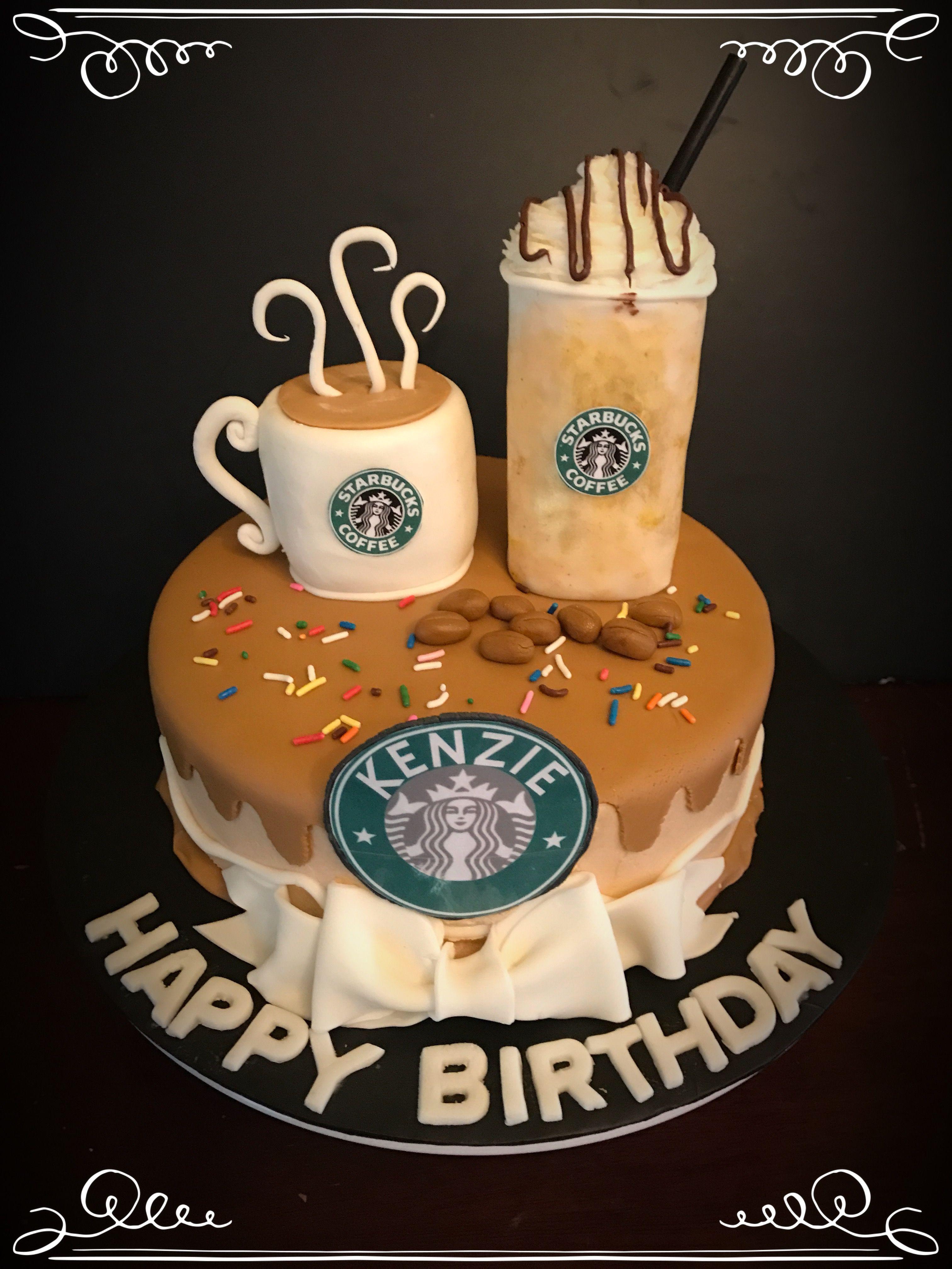 Fine Starbucks Birthday Cake Starbucks Cake Starbucks Birthday Cute Funny Birthday Cards Online Unhofree Goldxyz
